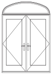 combination hinged patio door elliptical over double